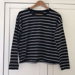 NWOT Everlane Long Sleeve Cotton Box-Cut Tee, S